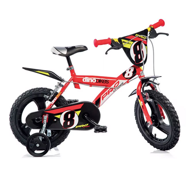 "BICICLETTA  PER BAMBINI 14"" PRO CROSS 2 FRENi DINO BIKE"