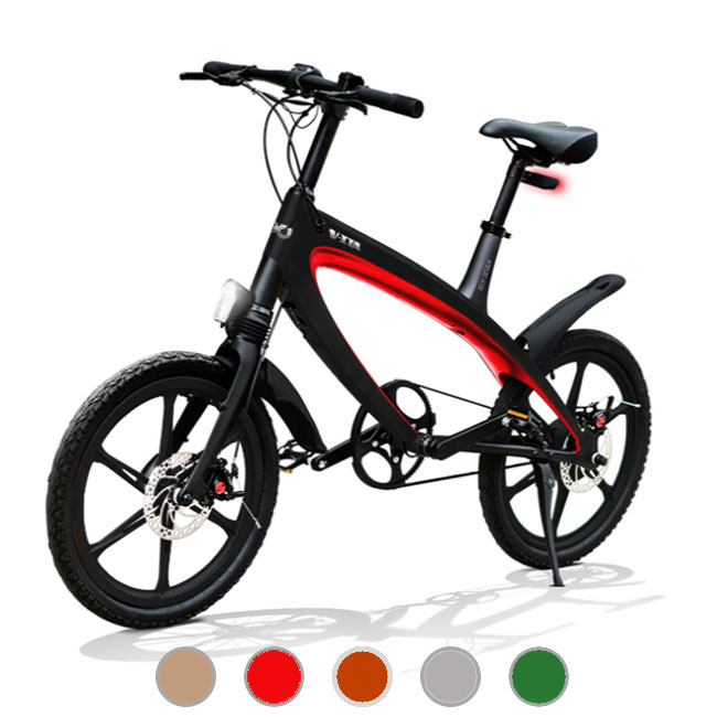 E-City Bike V-ITA Evolution Masterpieces con tecnologia bluetooth telaio nero