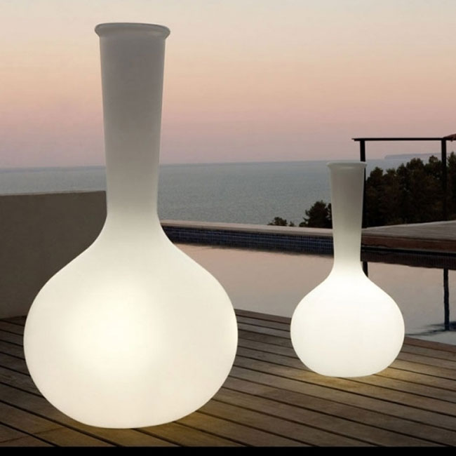 Vondom Vaso Luminoso Smart LED RGBW DMX con telecomando Chemistubes - Flask Outdoor