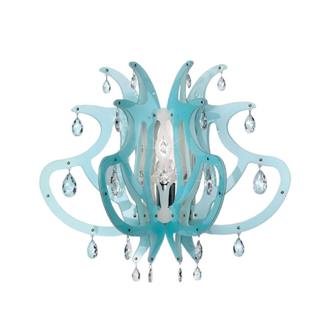 Slamp Applique Medusa Blu Gel 1 Luce E27 L 65x35 cm