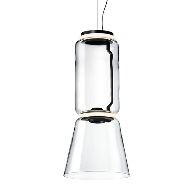Flos Sospensione Noctambule Low Cylinder and Cone H Modulo 45 cm luce LED