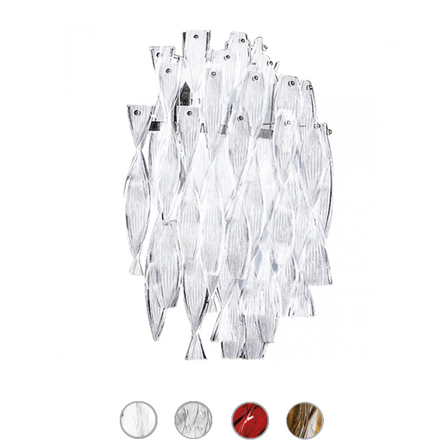 Axo Light Applique Murano Aura XX 2 luci E27 L 48 cm