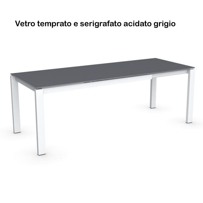 Connubia by Calligaris Baron in vetro Tavolo allungabile 160/220 cm ...