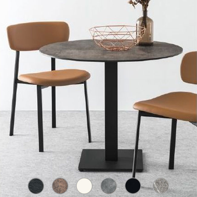 Connubia Tavolino Cocktail top in laminato Ø 89cm