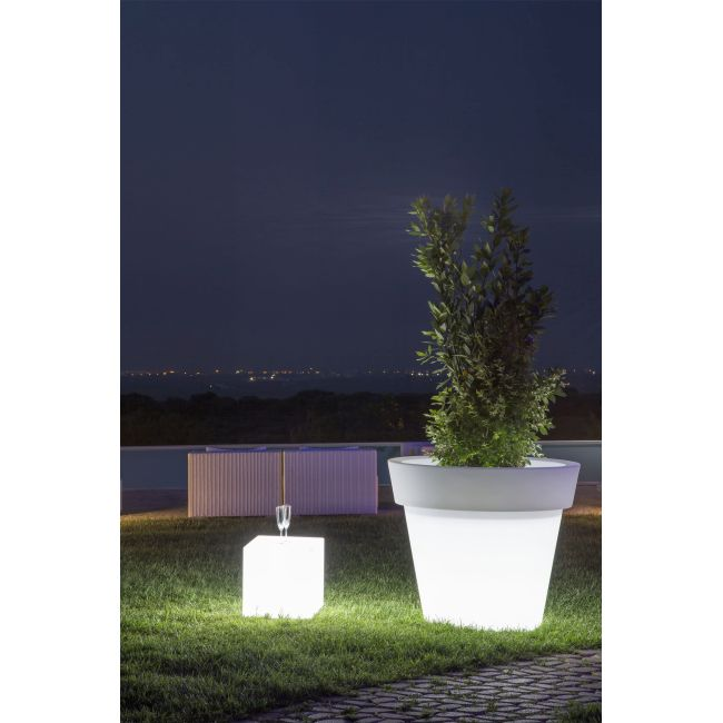 Monacis Vaso Luminoso GEMMA BRIGHT LED MULTICOLOR CON BATTERIA   Ø 80 CM