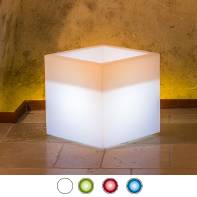 Monacis Vaso Luminoso CUBE POT BRIGHT H 40 CM