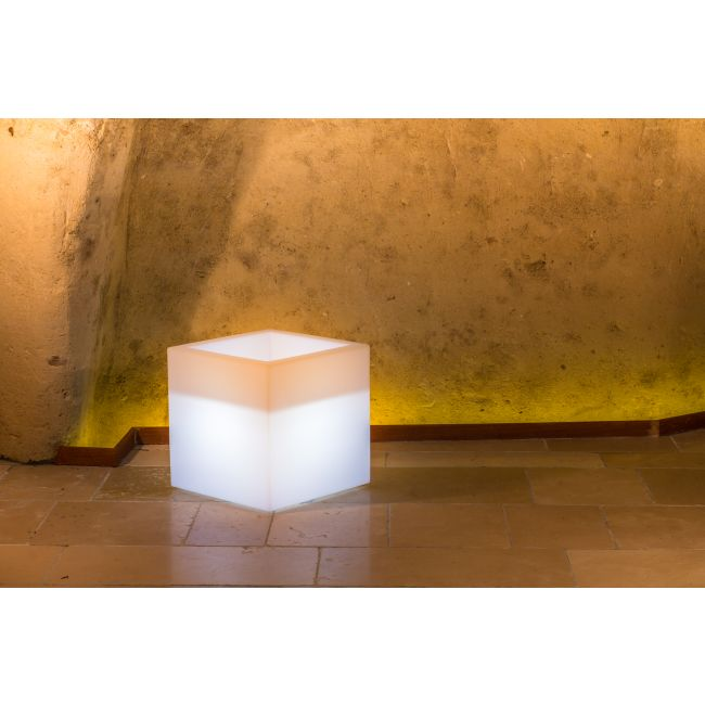 Monacis Vaso Luminoso CUBE POT BRIGHT   LED MULTICOLOR CON CAVO H 40 CM