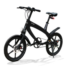 E-City Bike V-ITA Evolution Solid con tecnologia Bluetooth-Nero
