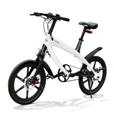 E-City Bike V-ITA Evolution Solid con tecnologia Bluetooth-Bianco