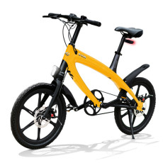 E-City Bike V-ITA Evolution Solid con tecnologia Bluetooth-Giallo
