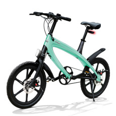 E-City Bike V-ITA Evolution Solid con tecnologia Bluetooth-Acquamarina