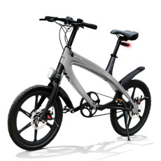 E-City Bike V-ITA Evolution Solid con tecnologia Bluetooth-Grigio Scuro