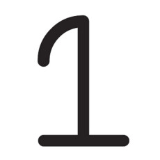 Artemide Applique Alphabet of light - Numero 1 LED 23W L 65 cm