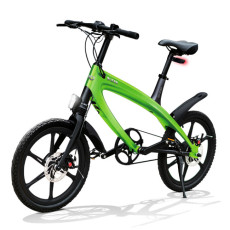 E-City Bike V-ITA Evolution Solid con tecnologia Bluetooth-Verde