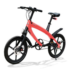 E-City Bike V-ITA Evolution Solid con tecnologia Bluetooth-Corallo
