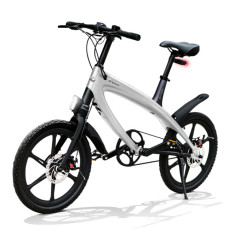 E-City Bike V-ITA Evolution Solid con tecnologia Bluetooth-Argento