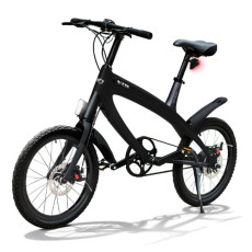 E-City Bike V-ITA Smart Solid con ingresso USB-Nero