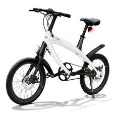 E-City Bike V-ITA Smart Solid con ingresso USB-Bianco