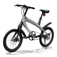 E-City Bike V-ITA Smart Solid con ingresso USB-Grigio Scuro
