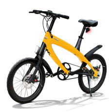E-City Bike V-ITA Smart Solid con ingresso USB-Giallo