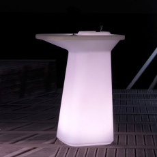 Vondom Tavolo alto Luminoso Smart Senza Fili LED RGBW a batteria Moma High L 75 cm Outdoor