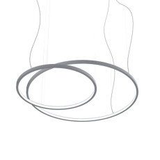 Martinelli Luce Sospensione Loop LED Dimmerabile Bianco Opaco