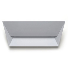 Lumen Center Applique Mail L 1 luce 2G11 L 56 cm Grigio perla