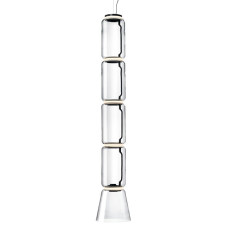 Flos Sospensione Noctambule 4 Low Cylinder and Cone H Modulo 45 cm LED 63W H 217 cm