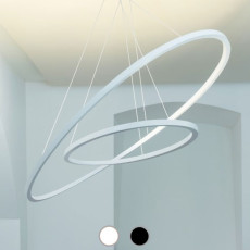 Nemo Ellisse Pendant Double Sospensione LED 90W L 133 cm