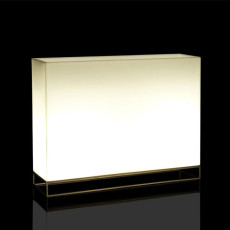 Vondom Fioriere Luminoso Smart Senza Fili LED RGBW a batteria Vela Wall L 120 cm Outdoor
