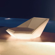Vondom Daybed Luminoso Smart Senza Fili LED RGBW a batteria Faz L 180 cm Outdoor