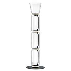 Flos Piantana Noctambule 3 High Cylinders Cone Big Base H Modulo 53 cm LED 54 W H 197 cm