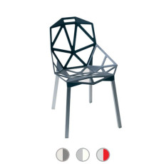 Magis Chair One Sedia Impilabile Bicolore H 82 cm L 55 cm