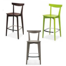 Connubia 2 stools Evergreen Wood Different Colors