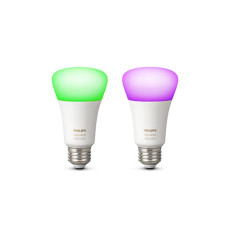 2 x Philips Hue White and Color Ambiance Lampadina LED 10W Ø 6,2 cm 4000K