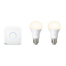 Philips Hue White Starter kit 2 Lampadine + Bridge E27 9,5W Ø 6,1 cm
