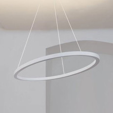 Nemo Ellisse Pendant Minor Sospensione uplight/downlight LED 54W L 102 cm-Bianco opaco