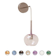 Glass Italy Applique Molly H 42 cm 1 Luce E14
