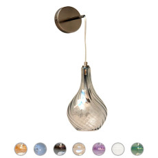 Glass Italy Applique Nancy H 40 cm 1 Luce E14