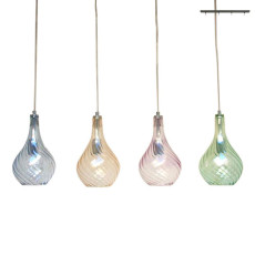 Glass Italy Sospensione Nancy L 80 cm 4 Luci E14