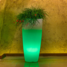 Monacis Vaso Luminoso STILO ROUND TOP BRIGHT  LED MULTICOLOR CON CAVO H 90 CM