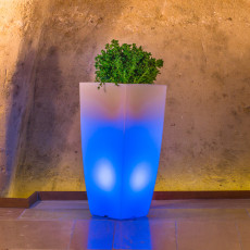 Monacis Vaso Luminoso STILO SQUARE TOP BRIGHT   LED MULTICOLOR CON CAVO H 90 CM