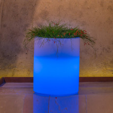 Monacis Vaso Luminoso VENUSIO BRIGHT   LED MULTICOLOR CON BATTERIA H 50 CM