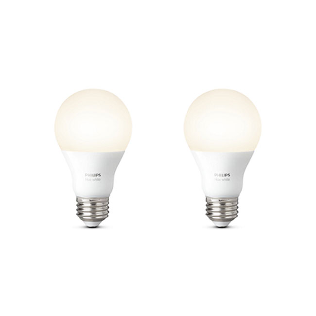 2 x Philips Hue White Lampadina LED 9,5W Ø 6,2 cm 2700K 2PZ