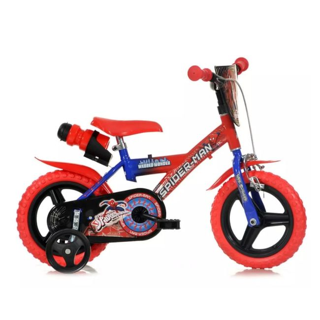 Bicicletta per bambini 12'' 1 Freno Spiderman
