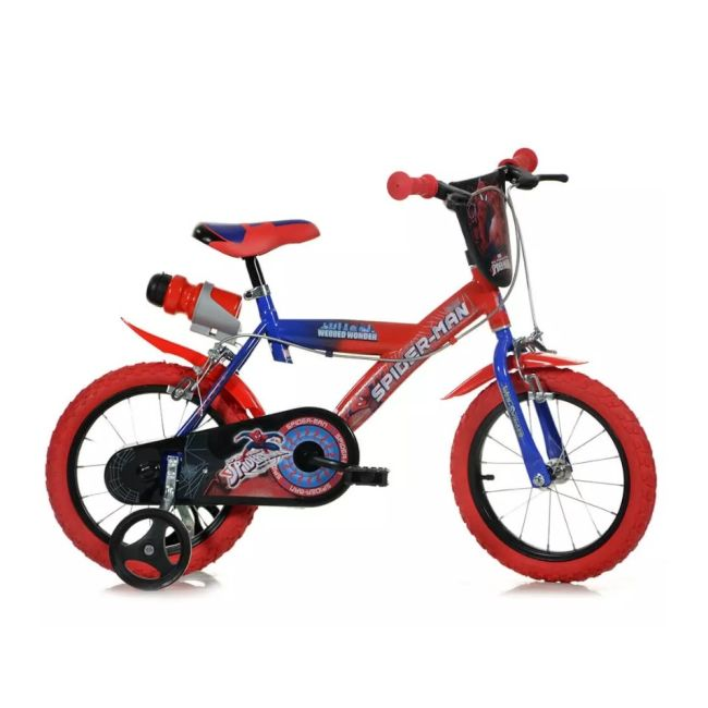 Bicicletta per bambini 14'' 2 Freni Spiderman