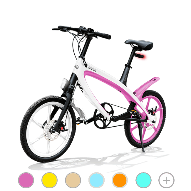 E-City Bike V-ITA E-Light con tecnologia Bluetooth modello Masterpieces Full