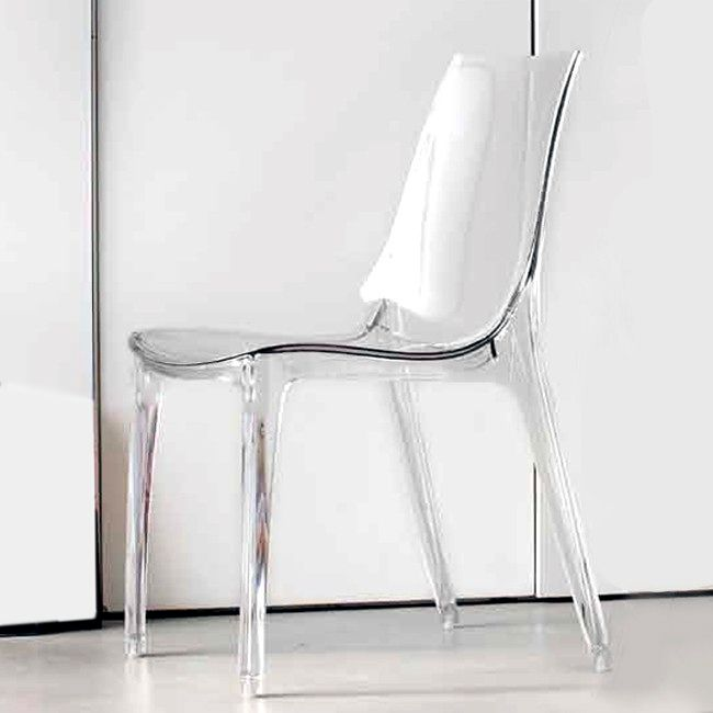 Sedia Vanity Chair.Sedia Scab Vanity Chair Policarbonato Impilabile Vari Colori Outdoor